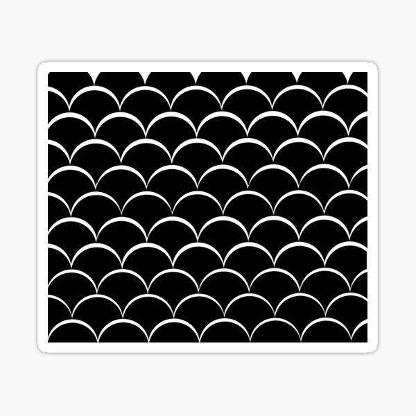 Achromatic Fishscales Sticker