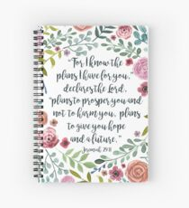 Jeremiah 29:11 Spiral Notebook