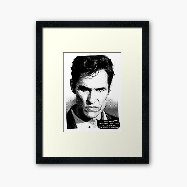 True Detective - The light's winning Framed Art Print