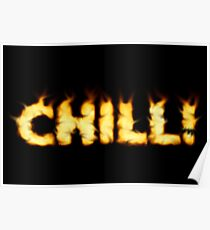 SOLD - SMOKIN' HOT TYPOGRAPHY Poster