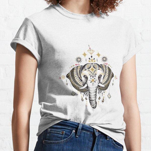 Bohemian Elephant Camiseta clásica