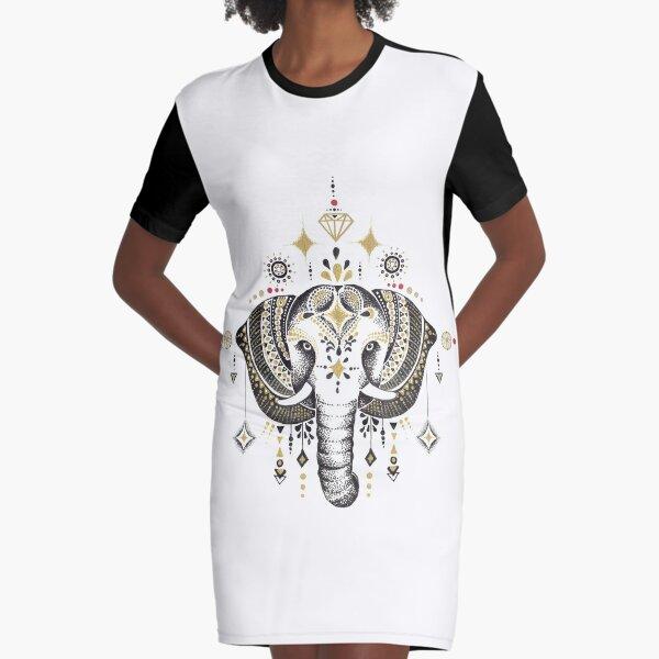 Bohemian Elephant Vestido camiseta