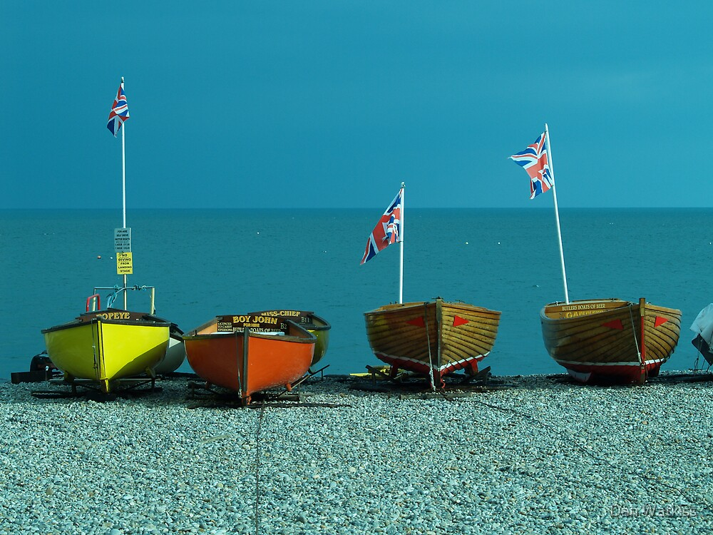 Four fishing boats by Dan Watkiss