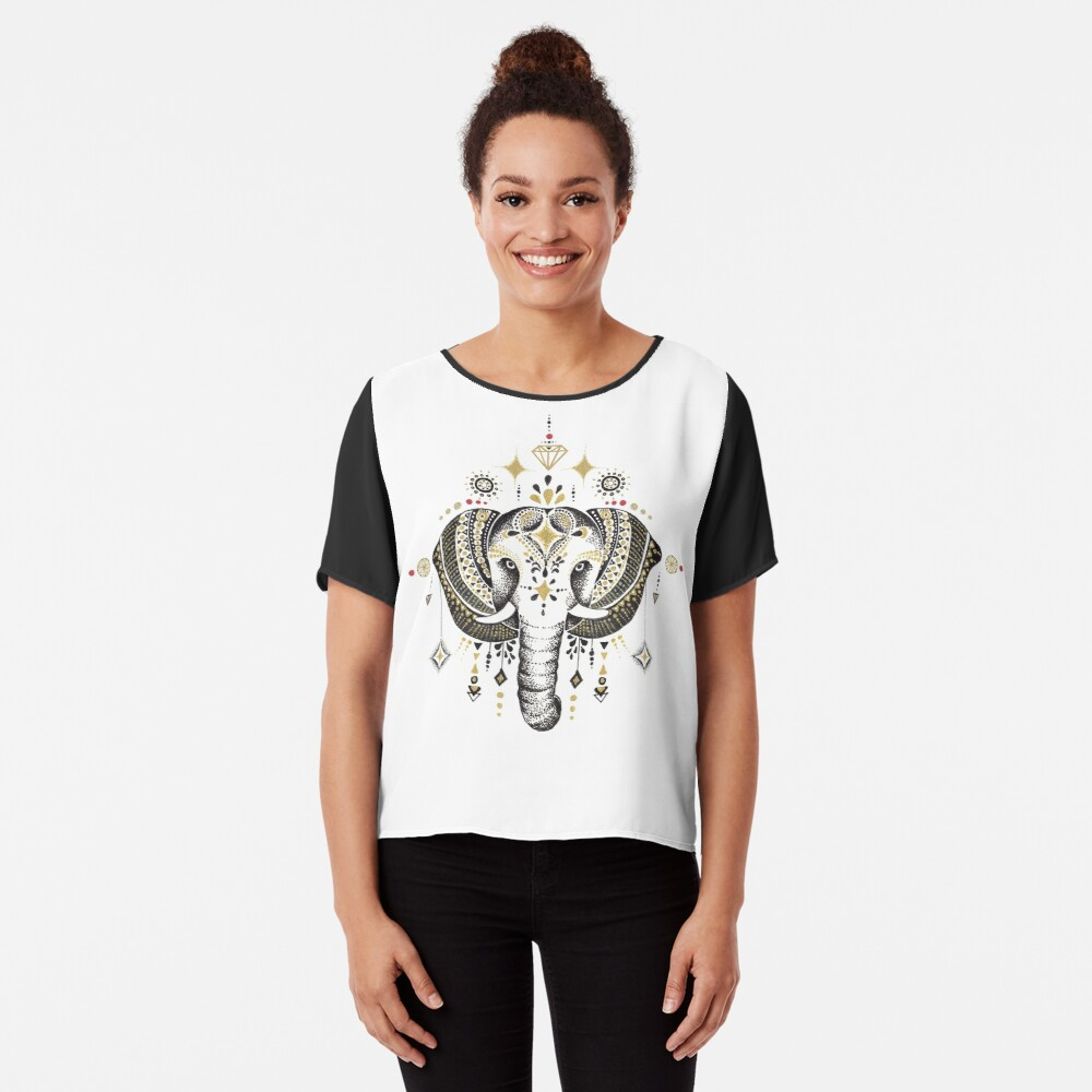 Bohemian Elephant Blusa