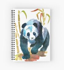 Panda walking right to you from the Bamboo Spiral Notebook