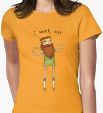 I work out Womens Fitted T-Shirt