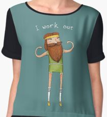 I work out Women's Chiffon Top