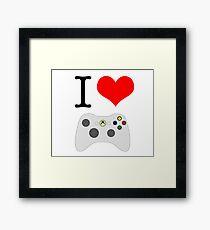 I Heart Xbox Gaming Framed Print