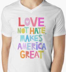 Love, not hate, makes America great Men's V-Neck T-Shirt