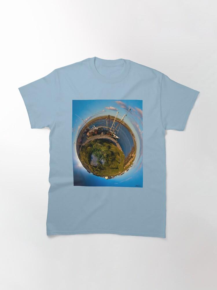 Alternate view of Fishing Boat, Killeany Pier, Inishmore, Aran Islands Classic T-Shirt