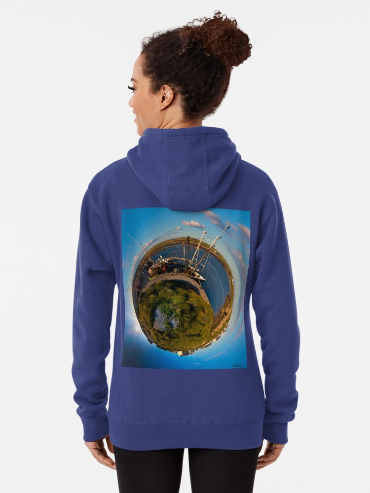 Alternate view of Fishing Boat, Killeany Pier, Inishmore, Aran Islands Pullover Hoodie