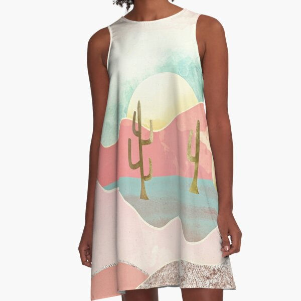Desert Mountains A-Line Dress