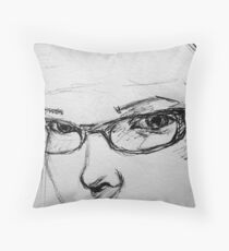 Self in pen Throw Pillow