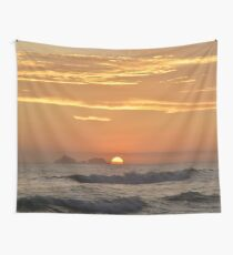 Sunset on water Wall Tapestry