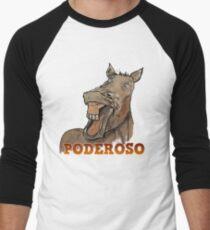 Powerful Horse Camiseta ¾ bicolor para hombre