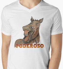 Powerful Horse Camiseta para hombre de cuello en v
