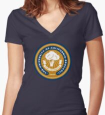 Official UC Broccoli Seal Women's Fitted V-Neck T-Shirt