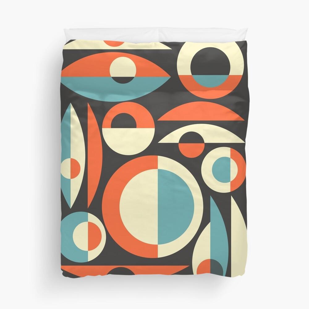 Retro Eames Era  Pisces Duvet Cover