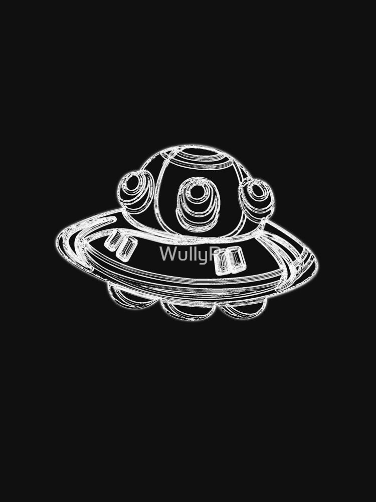 Spaceship - UFO Outline by WullyR