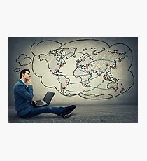 global network concept Photographic Print