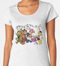 Top Cat, music lesson, summer T shirt, retro, vintage Women's Premium T-Shirt