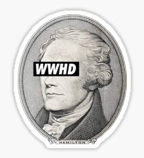 what would hamilton do Sticker