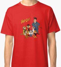 Camiseta clásica Top Cat, dibujos animados retro vintage, verano