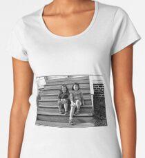 Portrait of Two Young Patriots Women's Premium T-Shirt