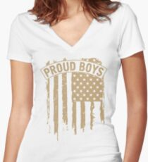 Proud Boys Women's Fitted V-Neck T-Shirt