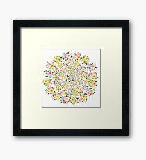 Beautiful Floral - floral, flowers, flower, rose  Framed Print