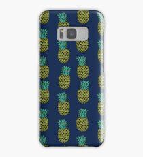 Pineapple stripes pattern by andrea lauren navy minimal fruit summer trendy print design Samsung Galaxy Case/Skin