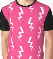 Bolts lightning bolt pattern pink and white minimal cute patterned gifts by CharlotteWinter Graphic T-Shirt