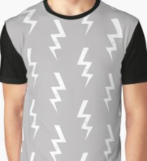 Bolts lightening bolt pattern grey and white minimal cute patterned gifts by CharlotteWinter Graphic T-Shirt