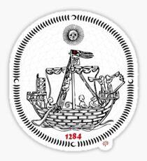 medieval ship Sticker