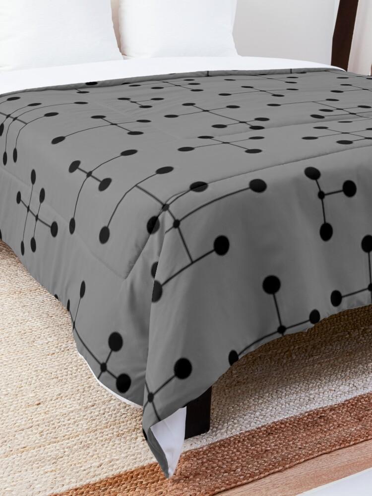 Alternate view of Midcentury Modern Dots 111 Comforter