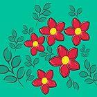 Red flowers by demonkourai