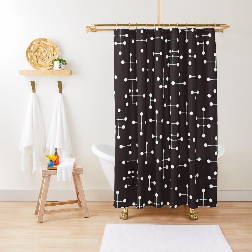 Midcentury Modern Dots 22 Shower Curtain