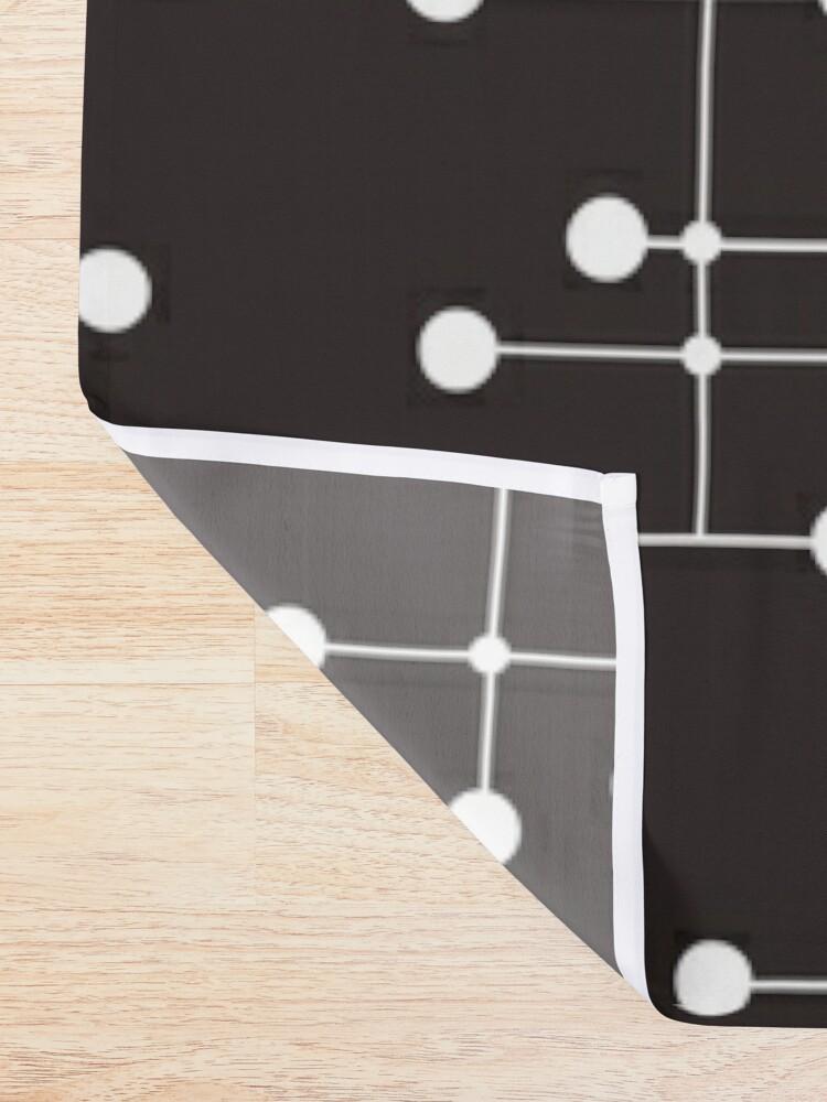 Alternate view of Midcentury Modern Dots 22 Shower Curtain
