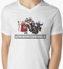 Camiseta de cuello en V Vox Machina - Pixel Art
