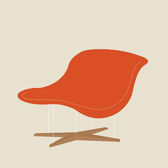 Orange La Chaise Chair By Charles Ray Eames