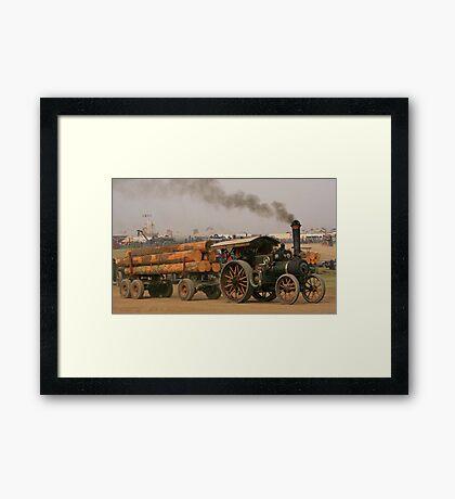 Burrell Log Hauling Framed Print