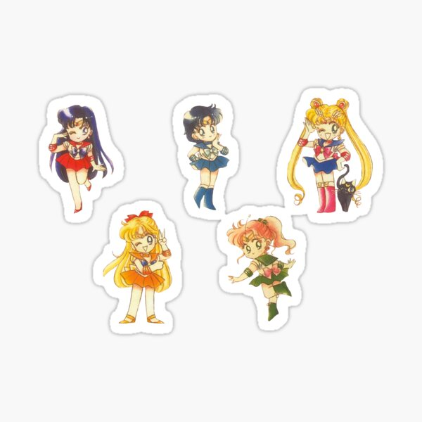 Chibi Inner Senshi Sticker Sheet Sticker