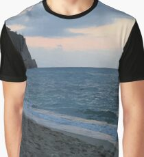 Sandy shore and calm sea Graphic T-Shirt