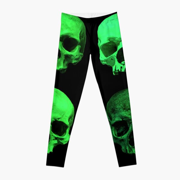 Skull quartet green Leggings