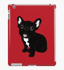 Cute Brindle Frenchie Puppy iPad Case/Skin
