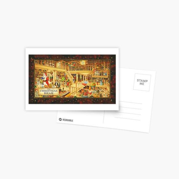 The Christmas Bear - Santa's Storeroom Postcard