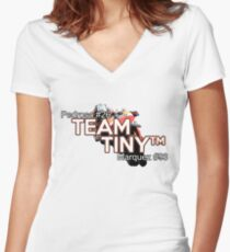 Team tiny Women's Fitted V-Neck T-Shirt