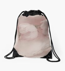 Three Pink Cosmo Flowers Drawstring Bag