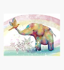The Indigo Elephant Photographic Print