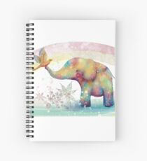 The Indigo Elephant Spiral Notebook